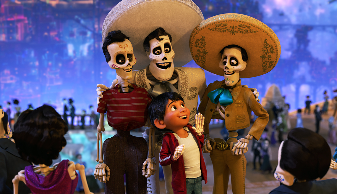 "item 4, Gallery image. ""Coco"" features Anthony Gonzalez as the voice of Miguel and Benjamin Bratt as the voice of Ernesto de la Cruz."