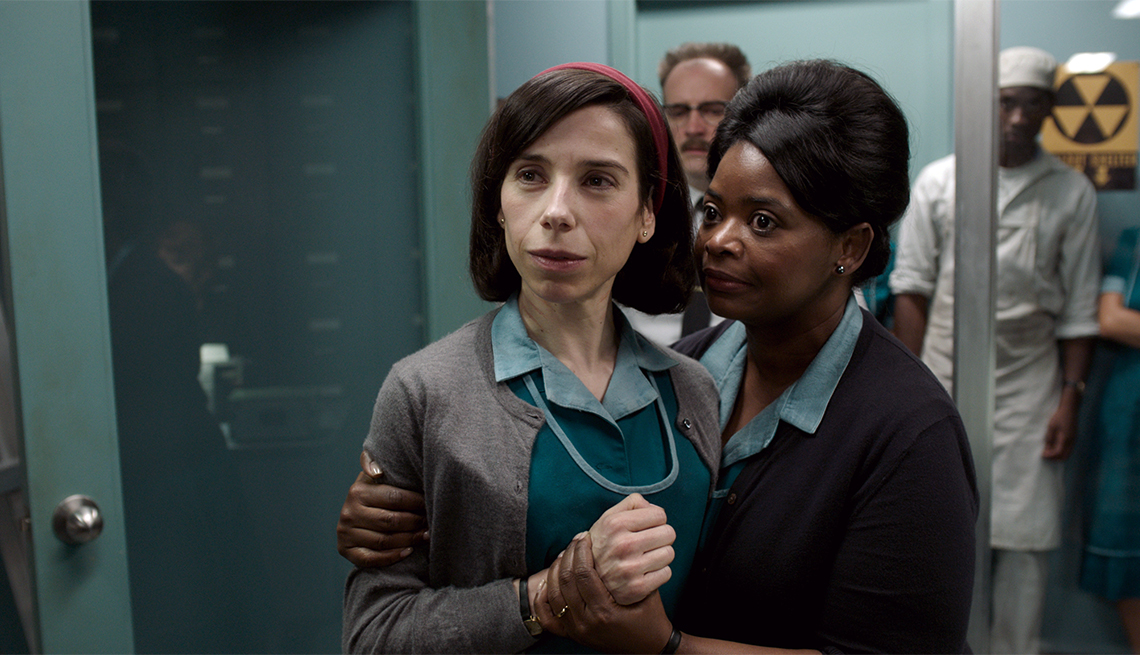 "item 5, Gallery image. Sally Hawkins and Octavia Spencer in ""The Shape of Water"""