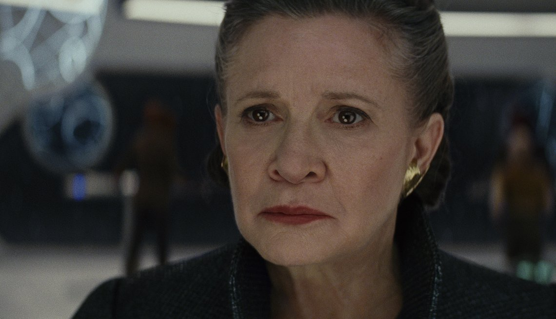 Carrie Fisher as Leia, in 'Star Wars: The Last Jedi'
