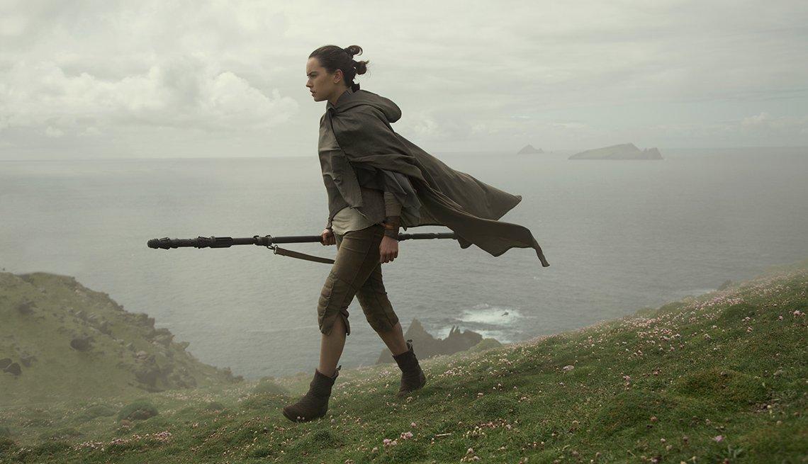 Daisy Ridley as Rey, in 'Star Wars: The Last Jedi'