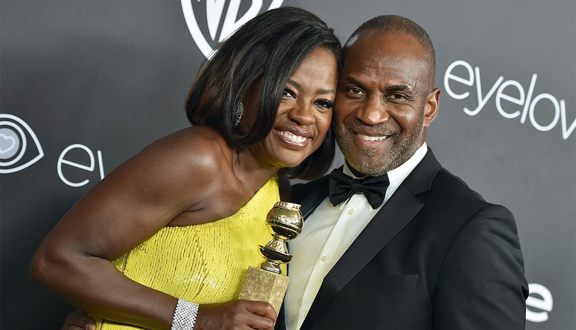 Actors Viola Davis and Julius Tennon arrive at the 18th Annual Post-Golden Globes