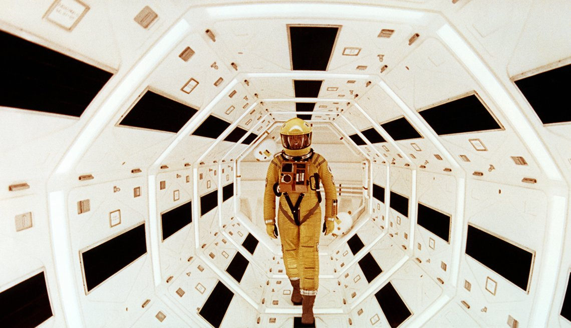 A film scene from '2001: A Space Odyssey' movie.