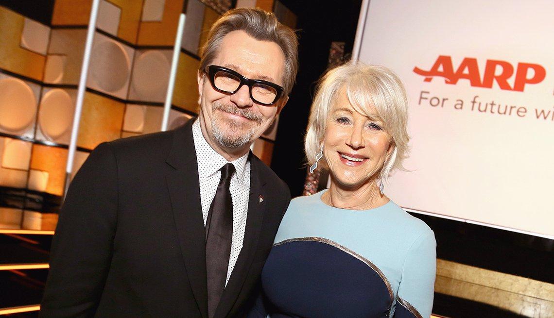 Gary Oldman y Helen Mirren en la entrega de la 17 gala de Movies For Grownups