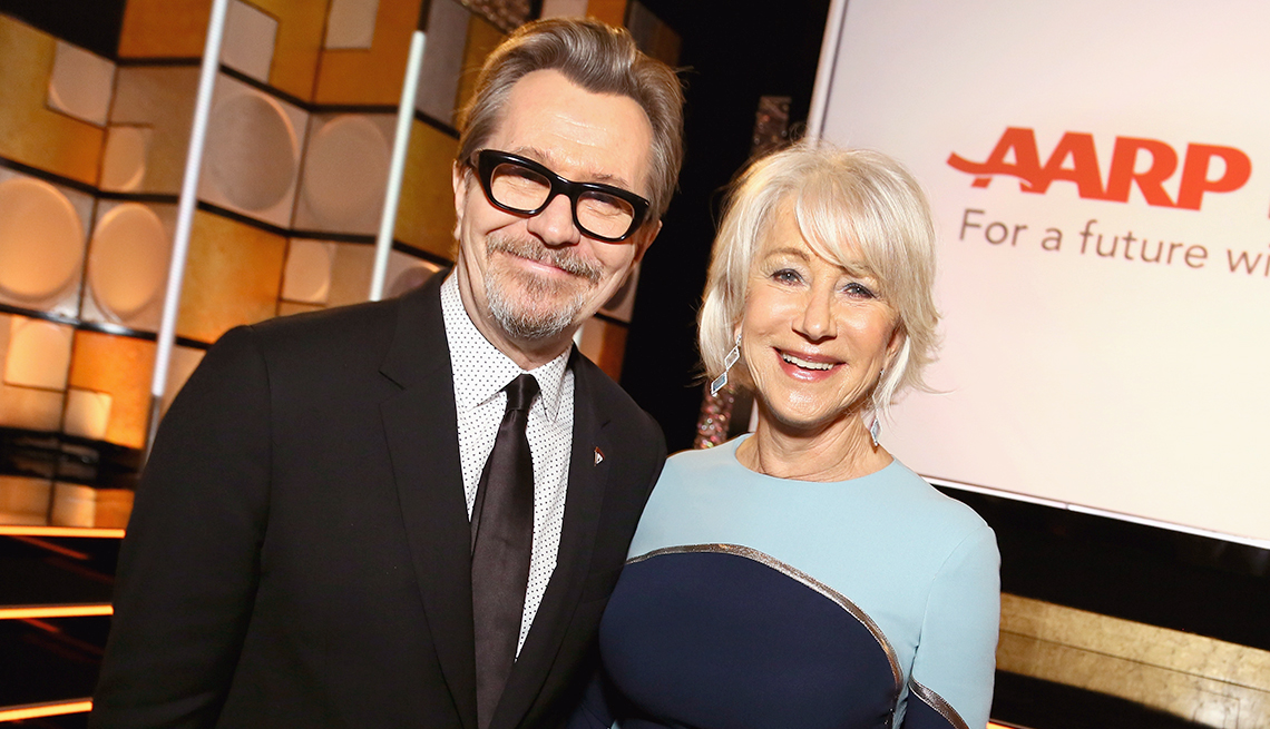 item 12 of Gallery image - Gary Oldman and honoree Helen Mirren