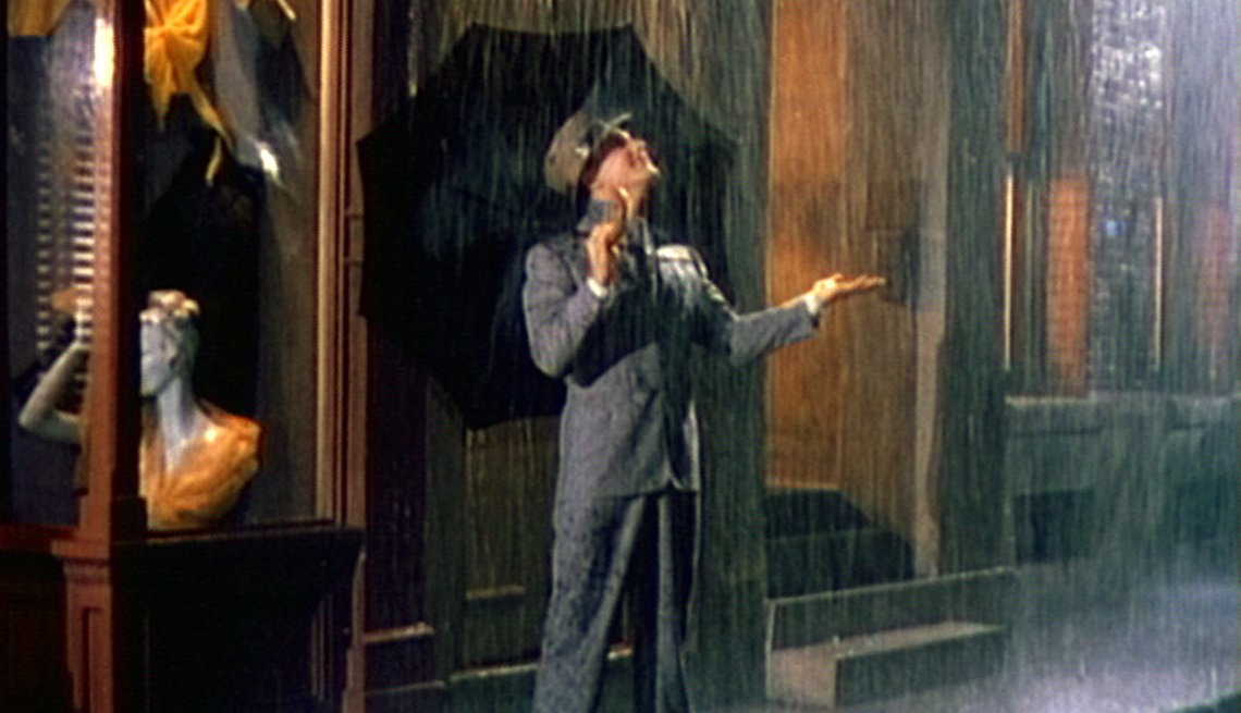 Actor Gene Kelly stars in 'Singin' in the Rain' movie.