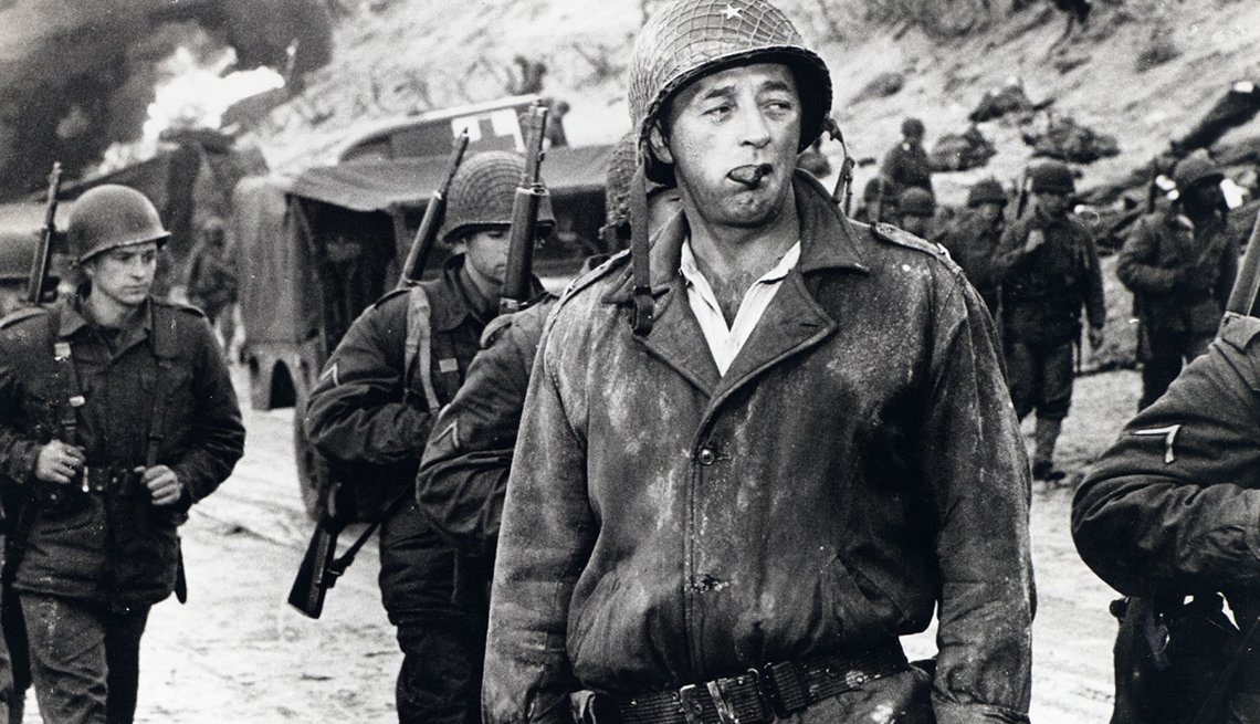 Film still from 'The Longest Day' starring Robert Mitchum