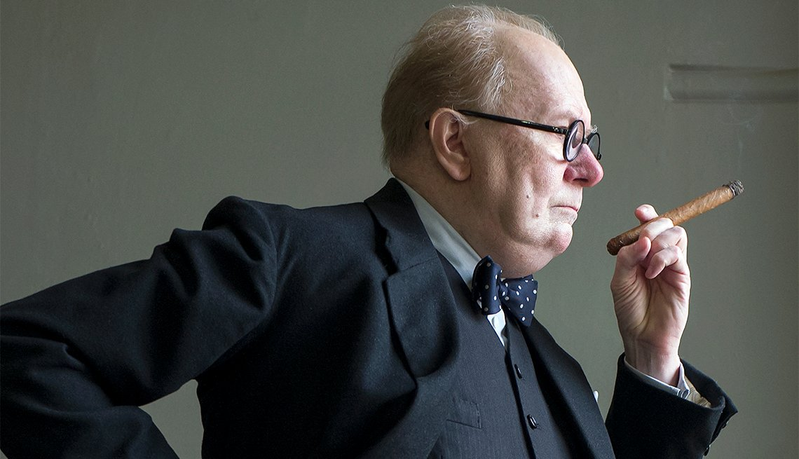 "item 3, Gallery image. Gary Oldman as Winston Churchill in ""Darkest Hour"""