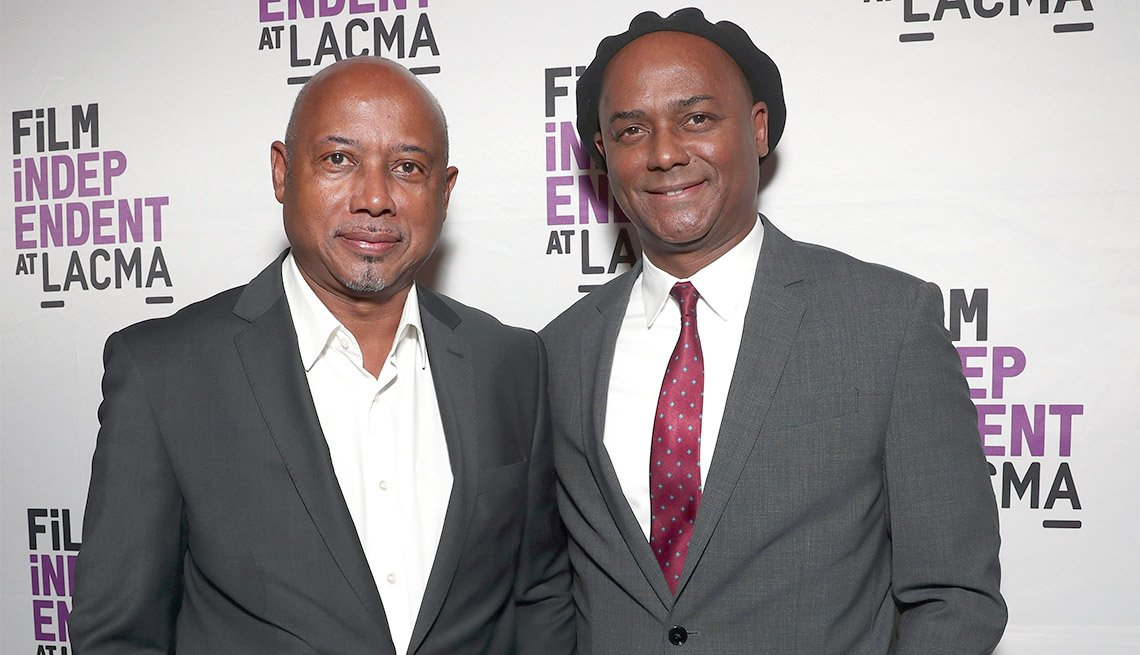 "item 13, Gallery image. Raoul Peck (left), director of ""I Am Not Your Negro"" and his brother, producer Hébert Peck"