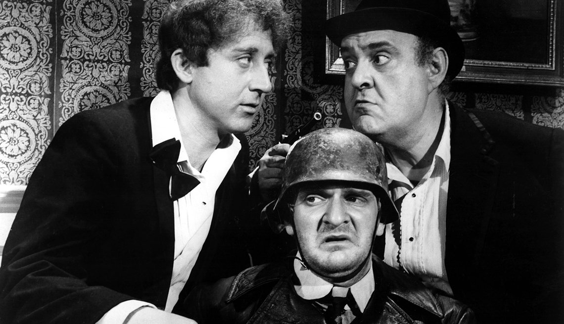 Gene Wilder, Kenneth Mars, and Zero Mostel in 'The Producers' movie.