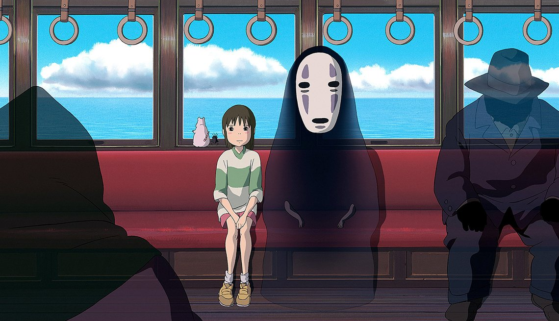 Movie clip from animated film spirited away.