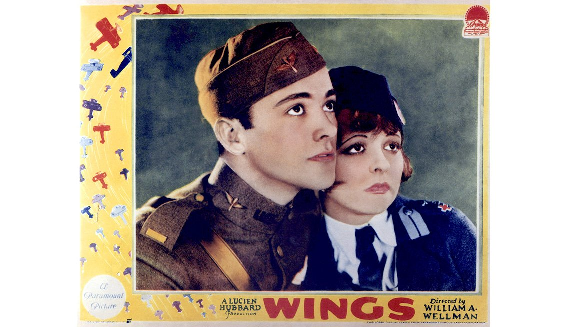 "item 1, Gallery image. Charles ""Buddy"" Rogers and Clara Bow in 1927's ""Wings"""