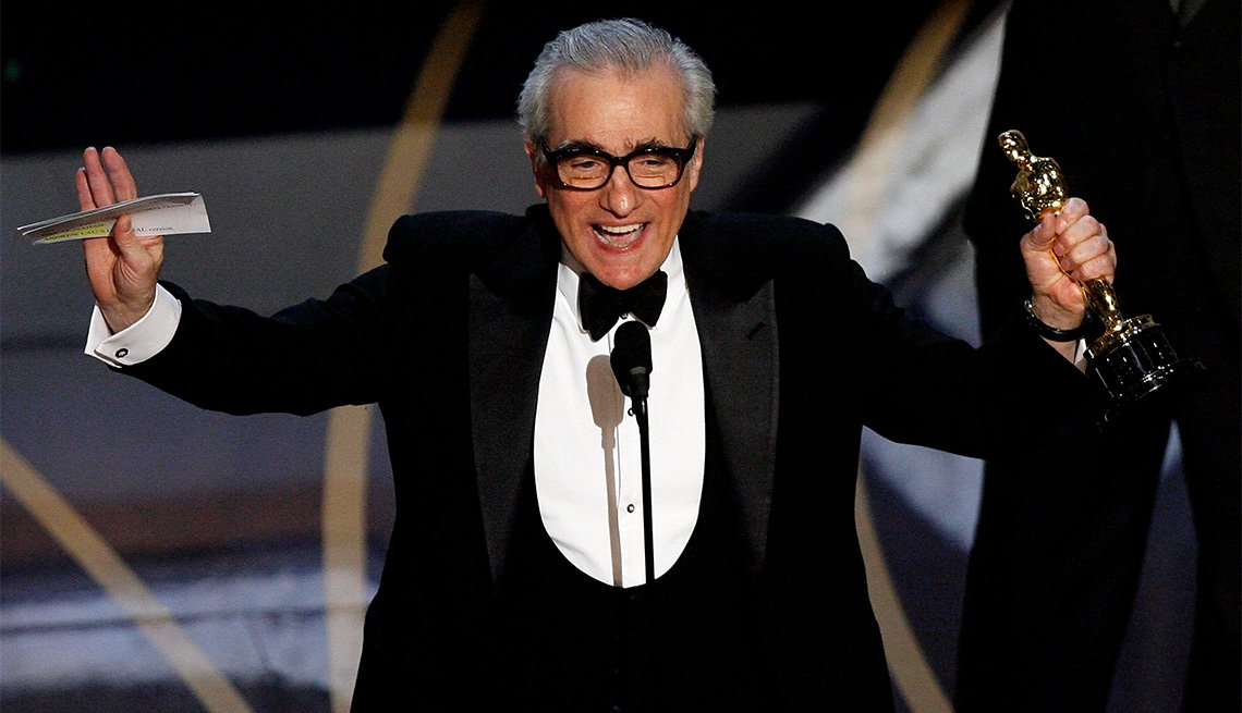 item 11, Gallery image. Director Martin Scorsese accepts his Oscar.