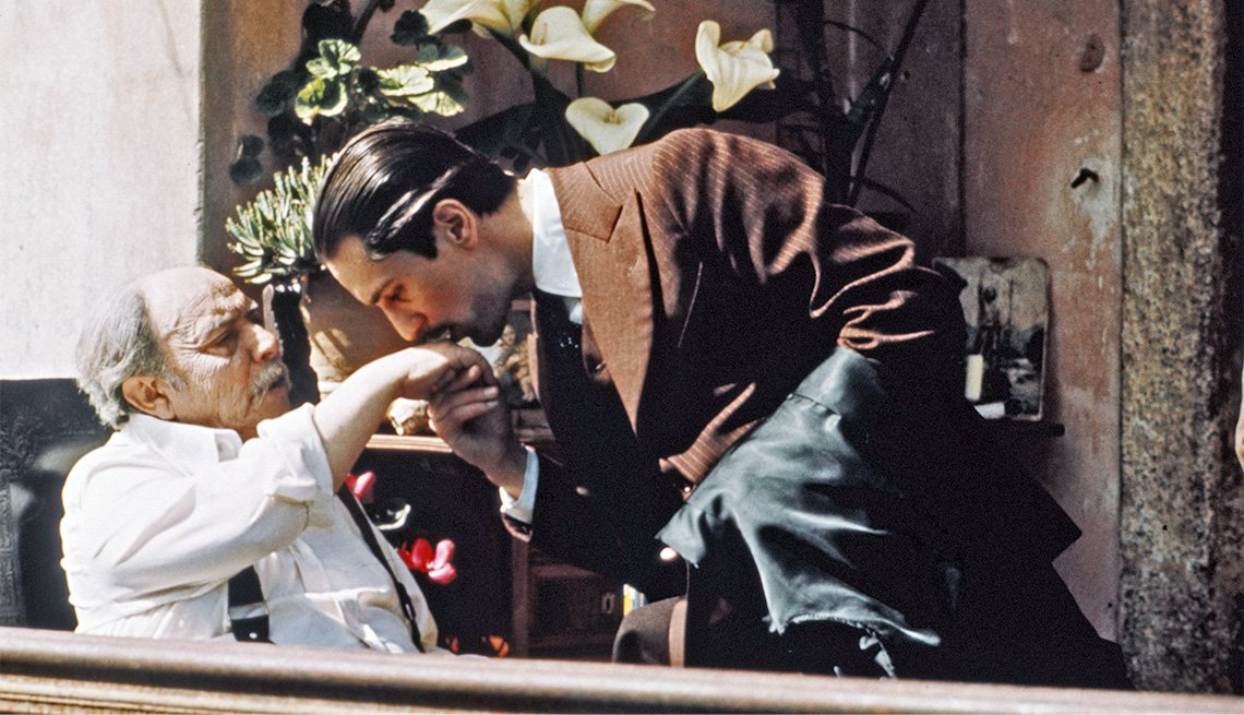 "item 8, Gallery image. Giuseppe Sillato and Robert De Niro in ""The Godfather: Part II"""
