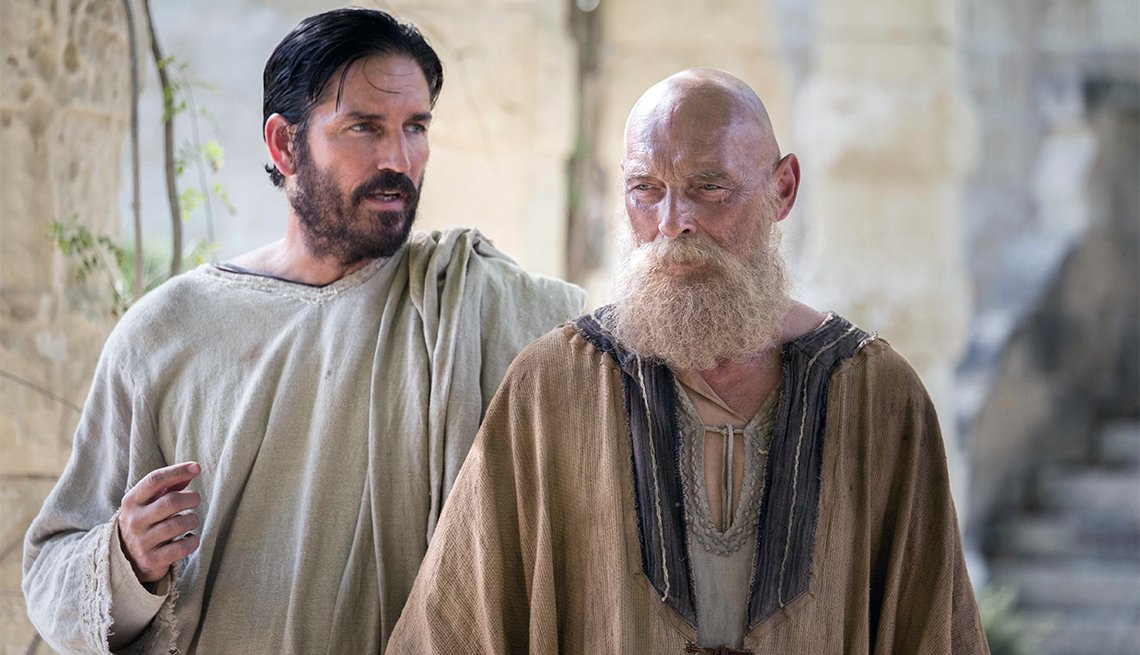 item 4, Gallery image. From left: Jim Caviezel and James Faulkner