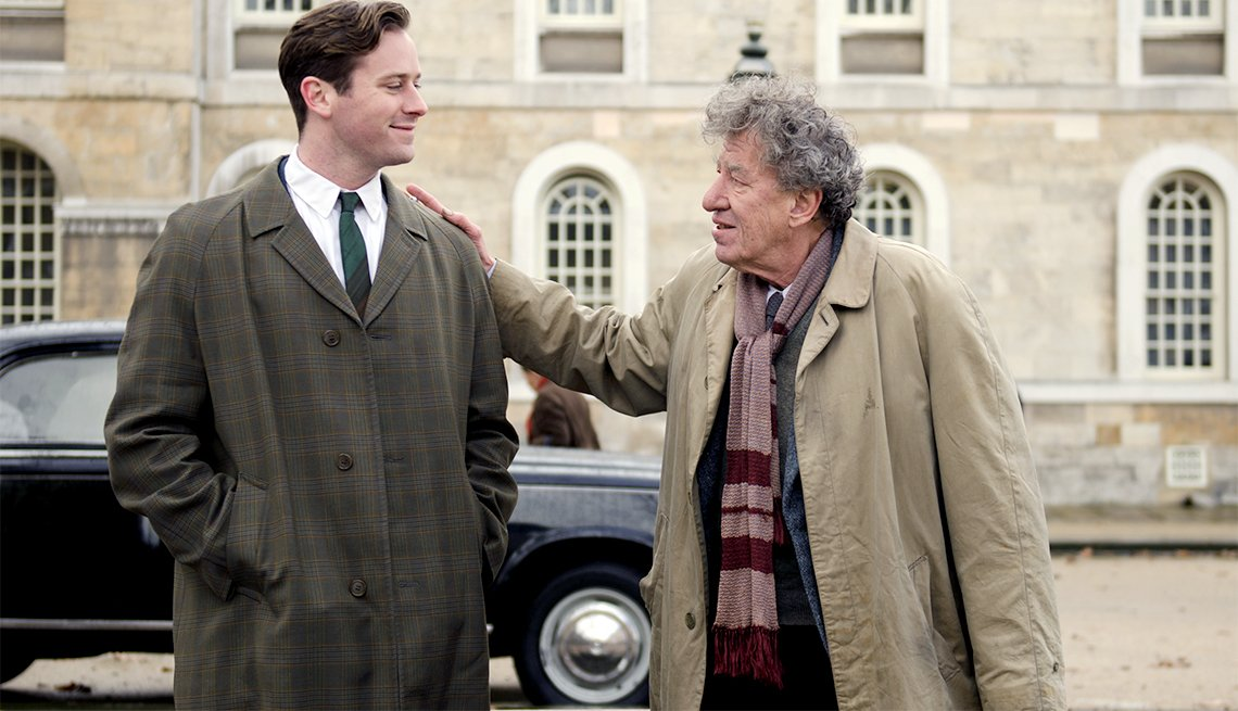item 3, Gallery image. From left: Armie Hammer and Geoffrey Rush