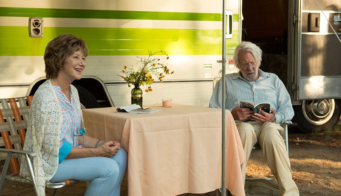 Donald Sutherland and Helen Mirren in leisure seeker