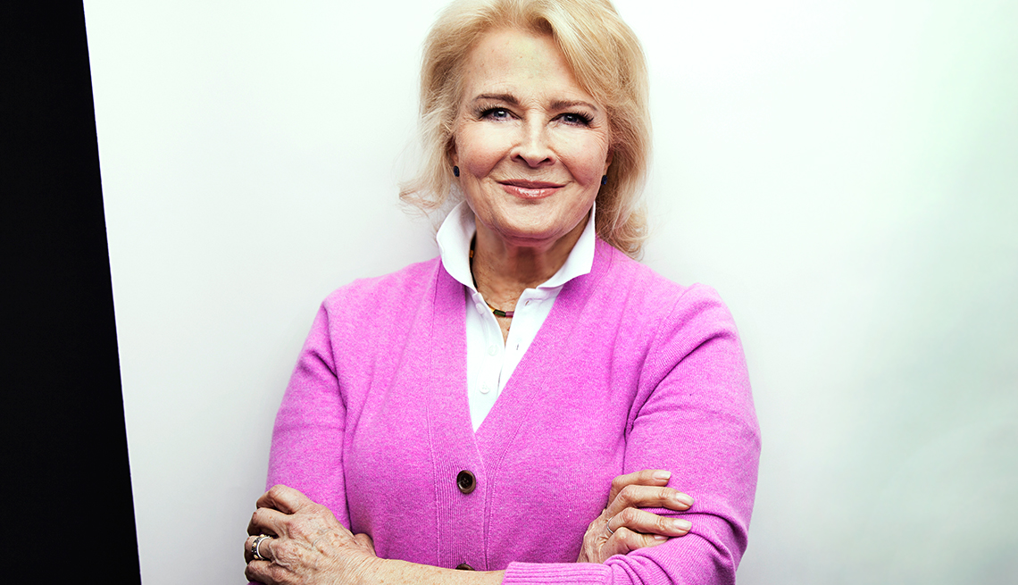 Actress Candice Bergen sits for a portrait in her home on Central Park South in New York, NY