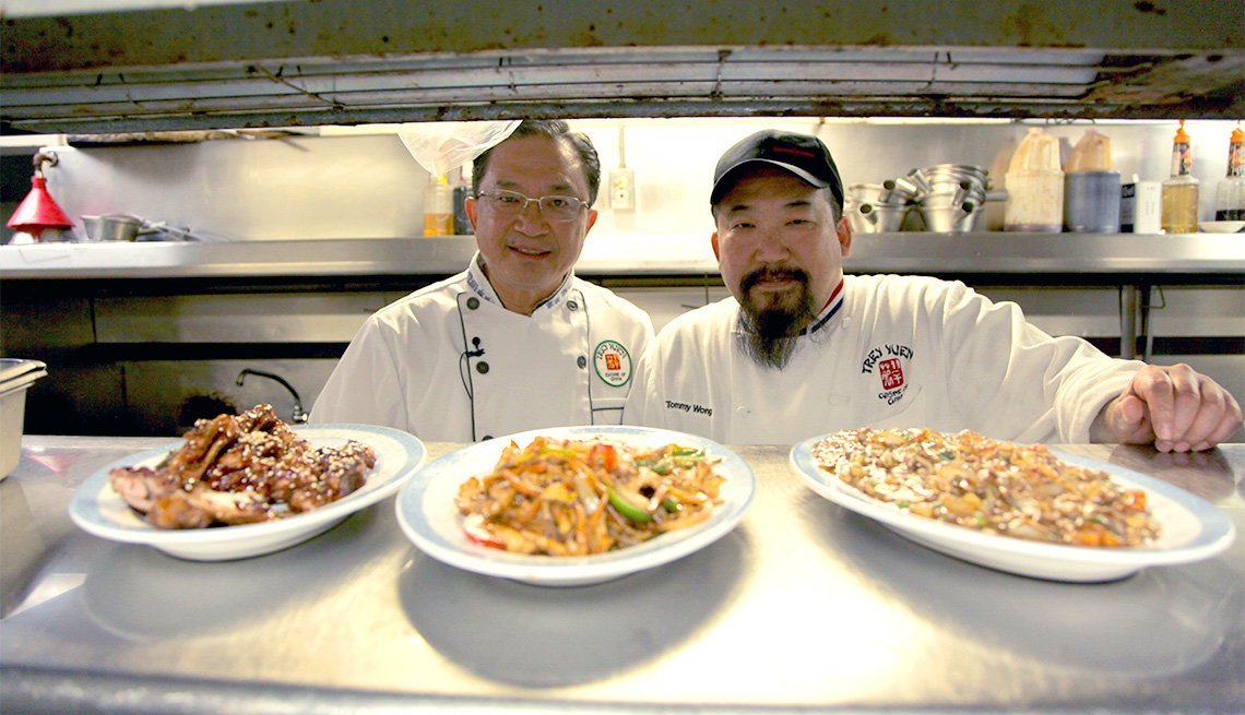 Frank Wong, Tommy Wong, of Trey Yuen Restaurant, Louisiana, in a scene from The Search For General Tso