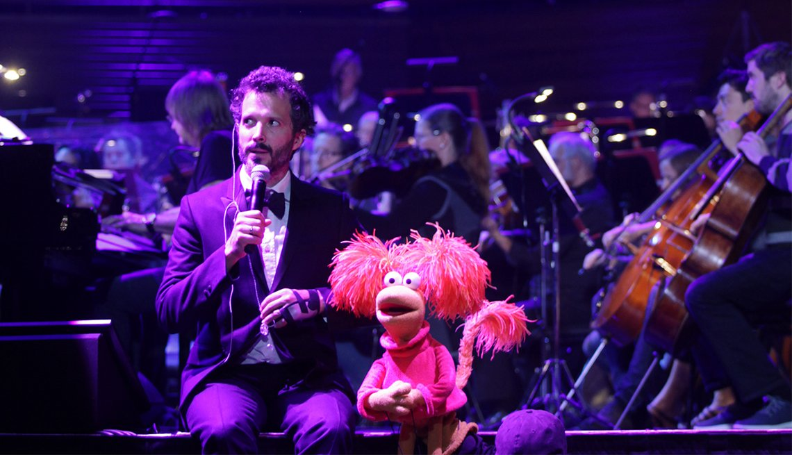 Bret McKenzie with Red Fraggle