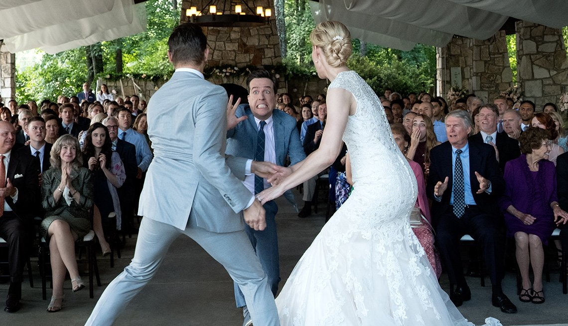 As two people get married in Tag, Hogan runs up and appears to try and tag the bride or groom.