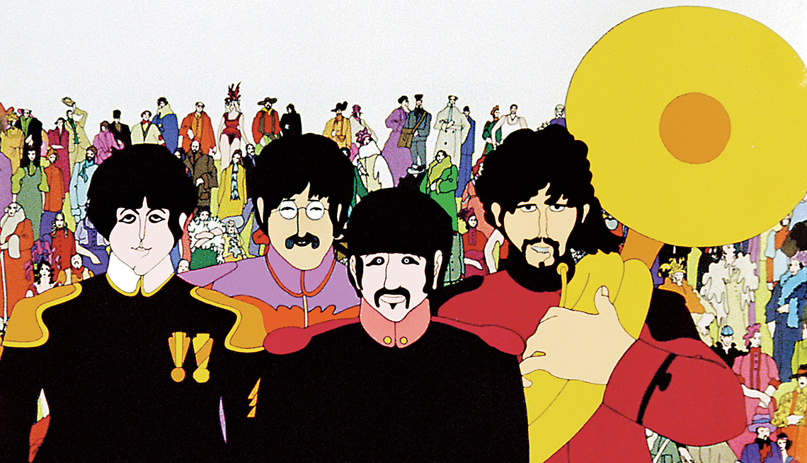 Animated show of the Beatles in Pepperland.