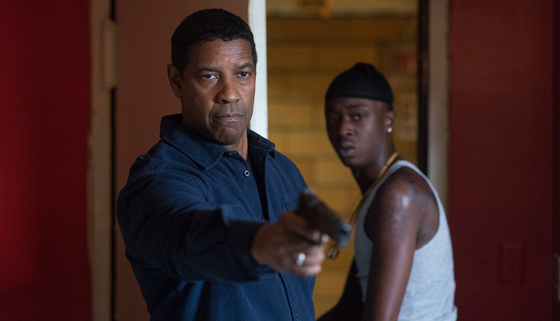 Denzel Washington and Ashton Sanders in The Equalizer 2