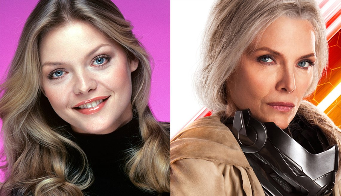 Michelle Pfeiffer, in 1979 TV show Delta House and 2018 film Ant-Man and The Wasp