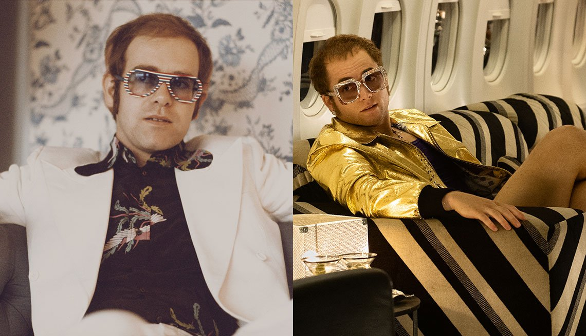 item 10, Gallery image. Sir Elton John; Taron Egerton as John