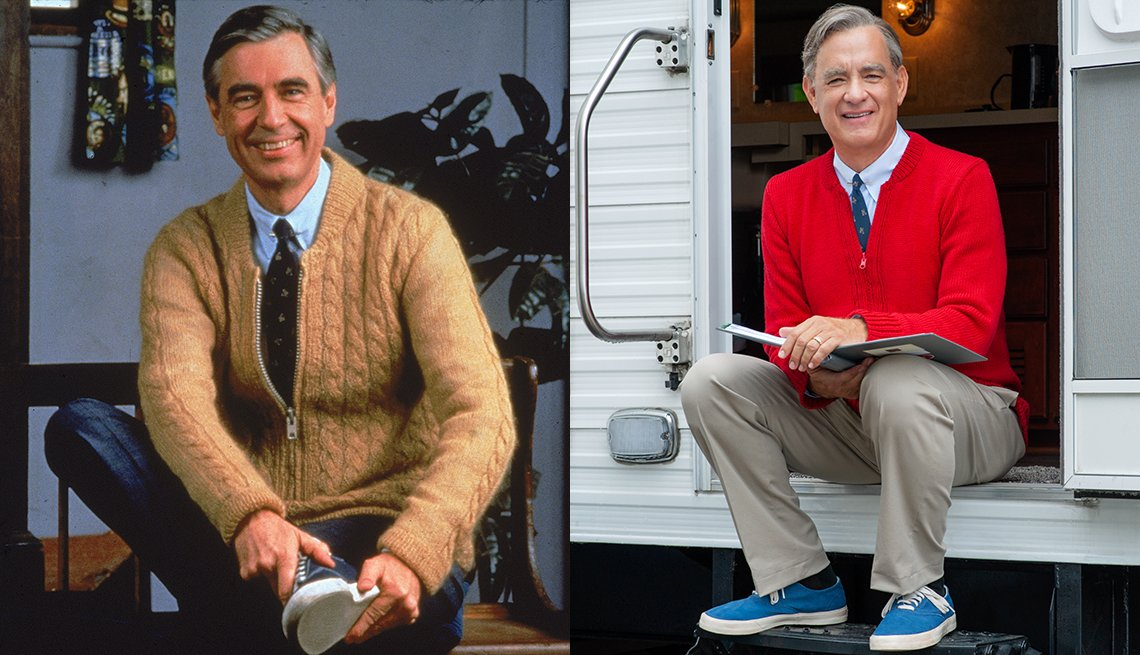 item 3, Gallery image. Children's TV pioneer Mr. Rogers; Tom Hanks as Rogers