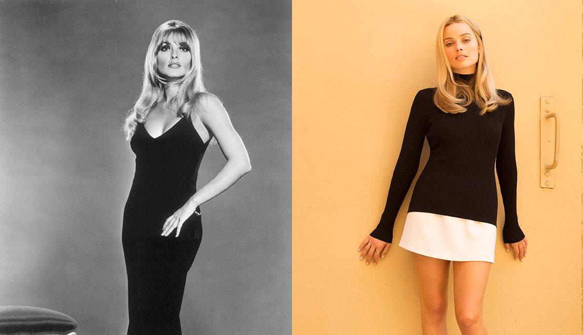 item 7, Gallery image. Actriz y modelo Sharon Tate; Margot Robbie interpretando a Tate.