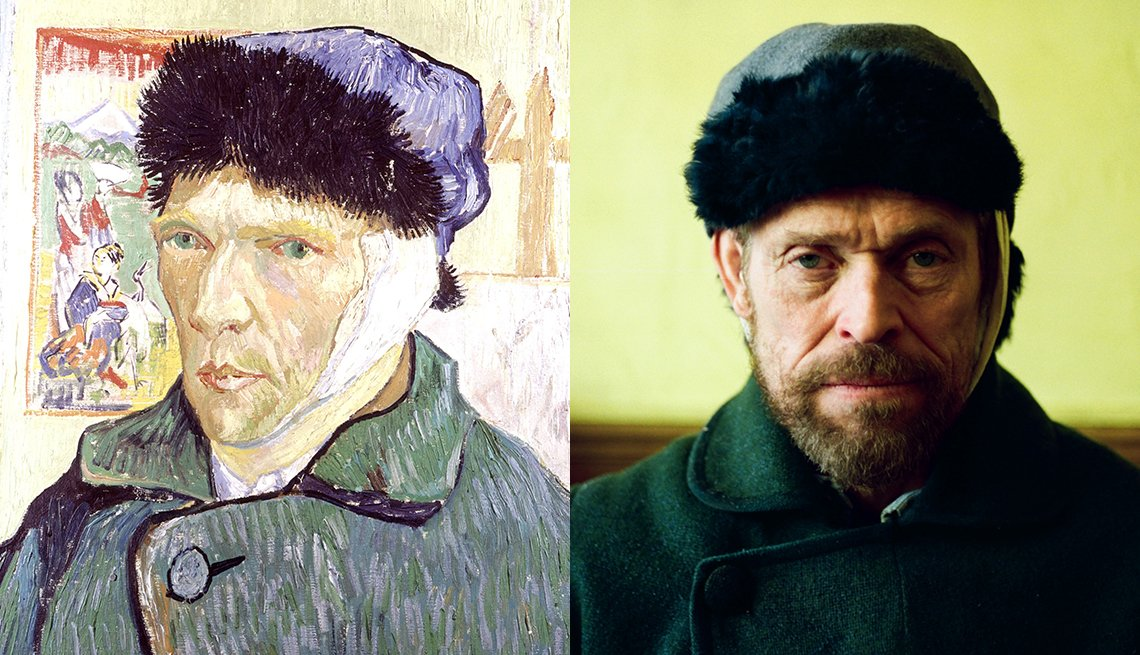 item 7, Gallery image. Portrait of artist Vincent Van Gogh; Willem Dafoe as Van Gogh