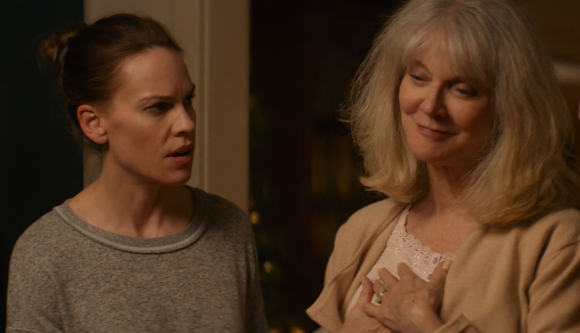 Hilary Swank and Blyth Danner in