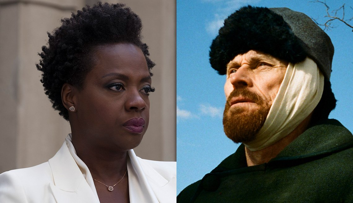 Viola Davis in 'Widows,' Willem Dafoe in 'At Eternity's Gate'