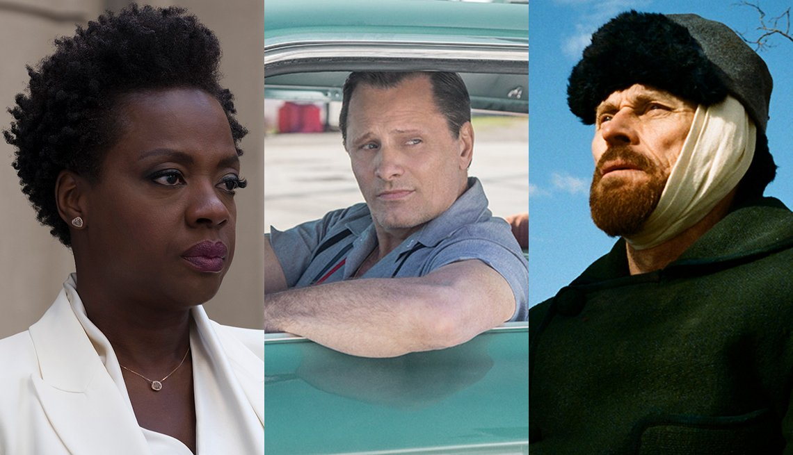 Viola Davis in 'Widows,' Viggo Mortensen in 'Green Book' and Willem Dafoe in 'At Eternity's Gate'