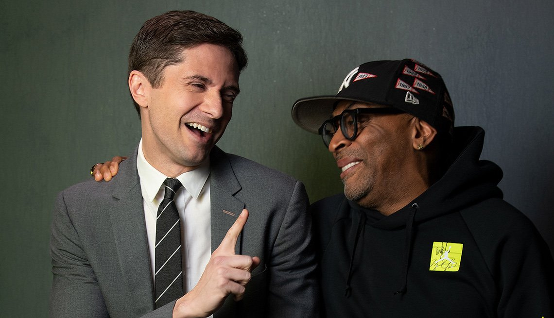 Spike Lee and Topher Grace
