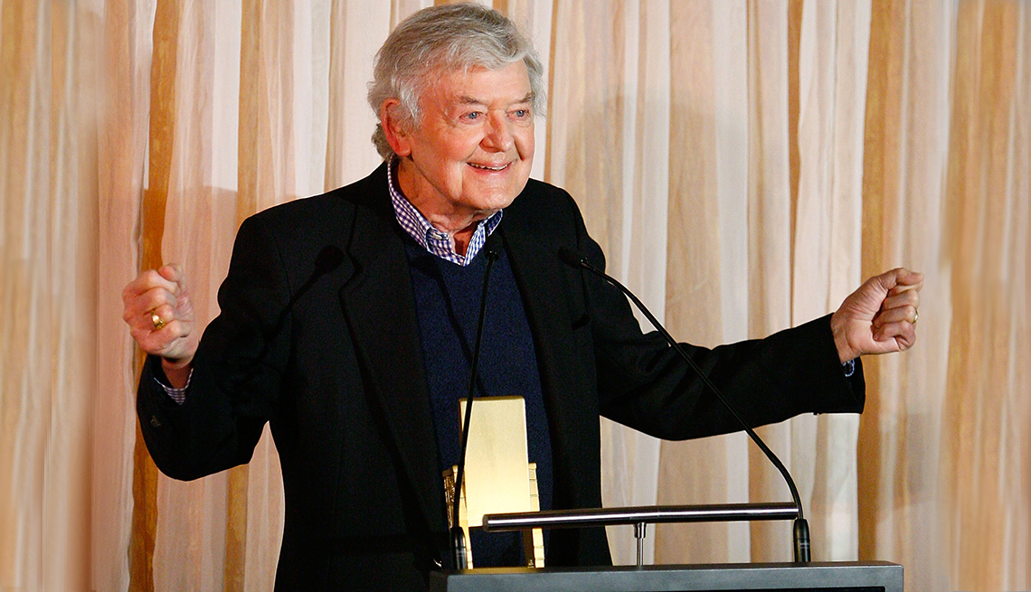 item 11 of Gallery image - Hal Holbrook on stage at AARP's Movies for Grownups Awards