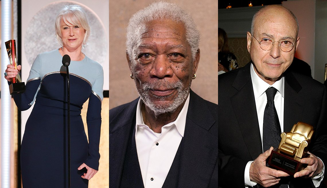 Helen Mirren, Morgan Freeman, Alan Arkin at Movies for Grownups Awards
