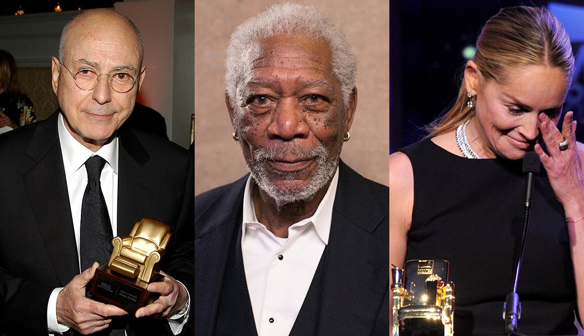 Alan Arkin, Morgan Freeman,  Sharon Stone en Movies for Grownups Awards