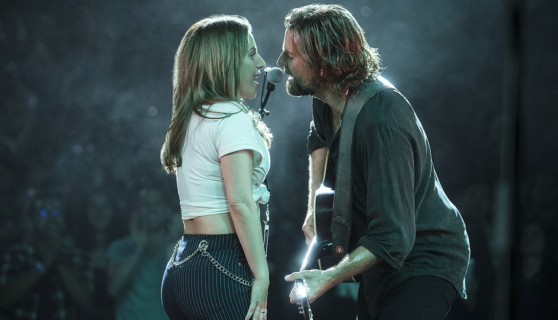 item 15 of Gallery image - Lady Gaga and Bradley Cooper singing together