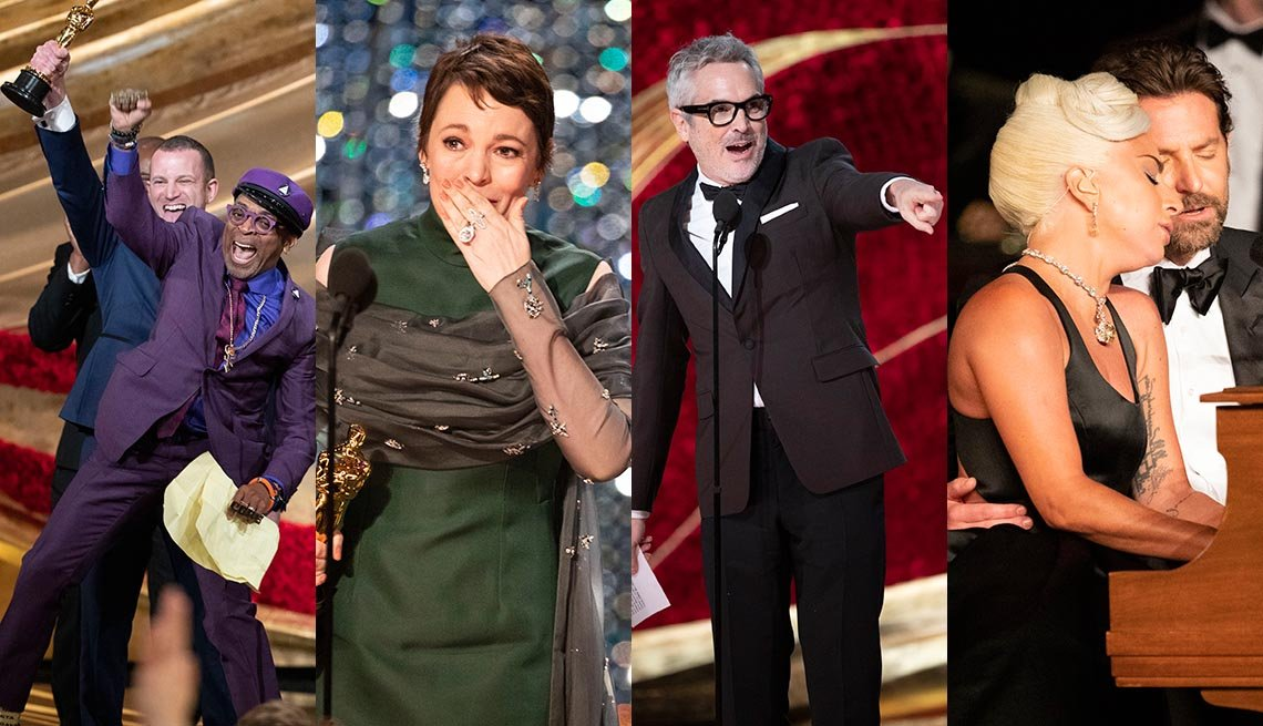 Spike Lee, Olivia Colman, Alfonso Cuaron, Lady Gaga and Bradley Cooper