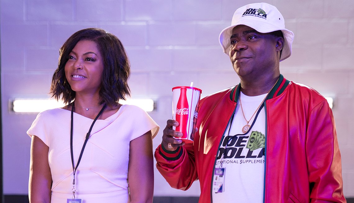 Taraji P. Henson and Tracy Morgan smiling