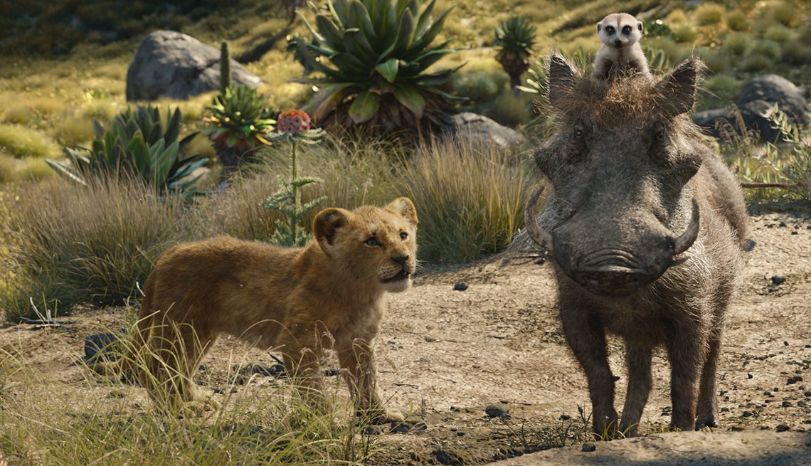 "Featuring the voices of JD McCrary as Young Simba, Billy Eichner as Timon and Seth Rogen as Pumbaa, Disney's ""The Lion King"" is directed by Jon Favreau. In theaters July 19, 2019."