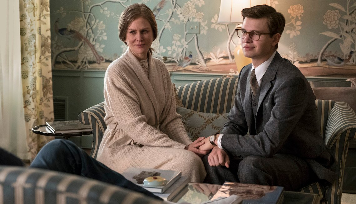 (L-r) NICOLE KIDMAN as Mrs. Barbour and ANSEL ELGORT as Theo Decker in Warner Bros. Pictures' and Amazon Studios' drama, 'The Goldfinch.'