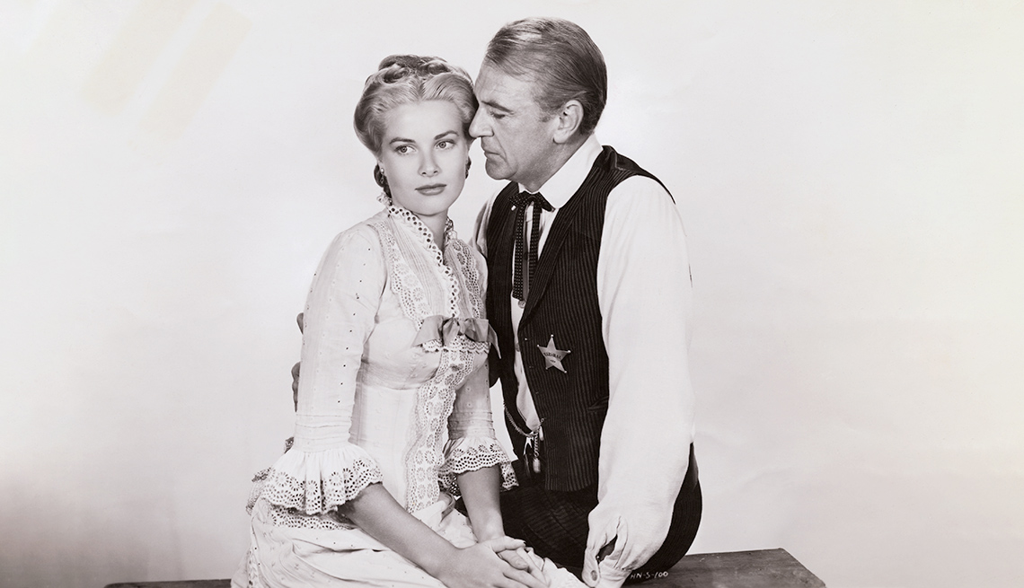 item 3 of Gallery image - Gary Cooper and Grace Kelly in High Noon.