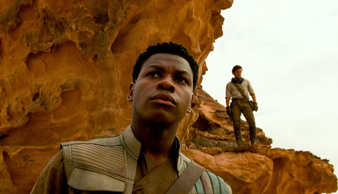 item 9 of Gallery image - Finn (John Boyega) and Poe Dameron (Oscar Isaac) in STAR WARS:  THE RISE OF SKYWALKER.