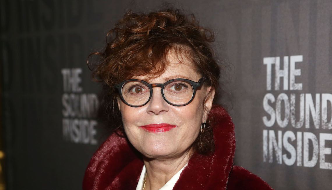"""Susan Sarandon poses at the opening night of the new play """"The Sound Inside"""" on Broadway at Studio 54 Theatre on October 17, 2019 in New York City."""