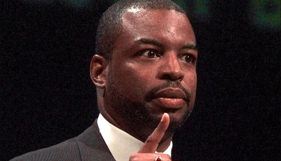 item 3 of Gallery image - Actor LeVar Burton gestures while delivering a speech in June 1999.