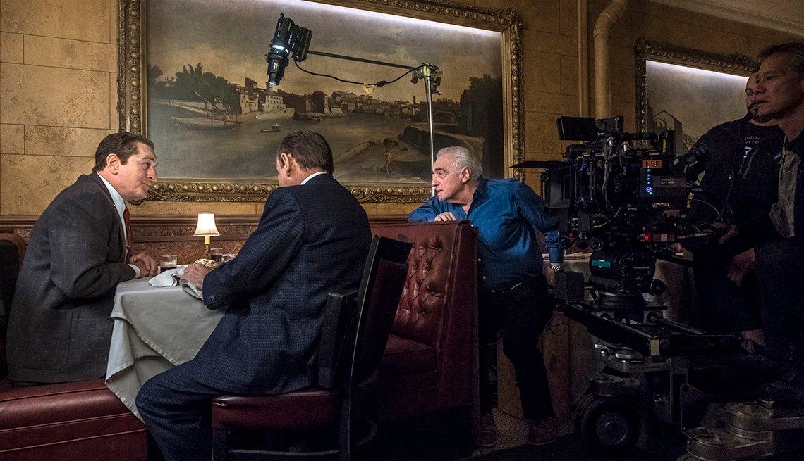 item 7 of Gallery image - Martin Scorsese directs Robert De Niro and Joe Pesci in a scene from The Irishman