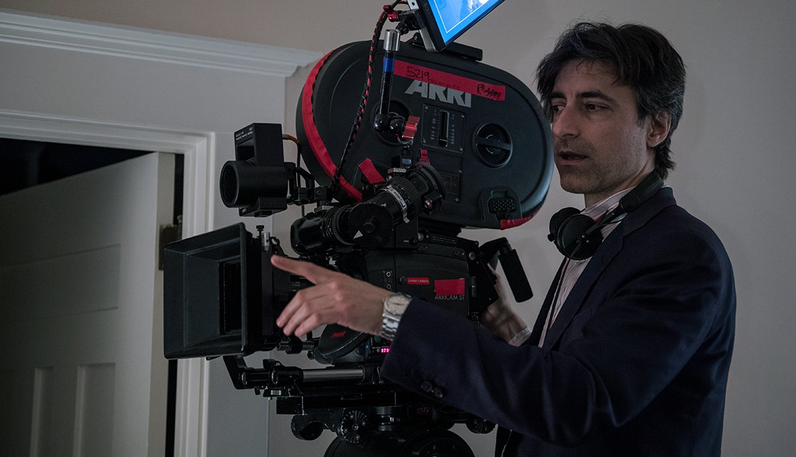 item 8 of Gallery image - A behind the scenes photo of Noah Baumbach directing the film Marriage Story