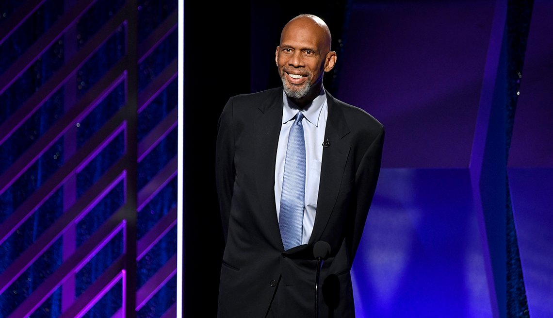 Kareem Abdul Jabbar speaks onstage at the 18th Annual AARP The Magazine's Movies For Grownups Awards at the Beverly Wilshire Four Seasons Hotel on February 4 2019 in Beverly Hills California